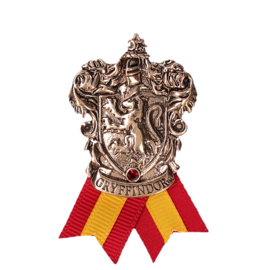 ハリー・ポッター ホグワーツ寮生アクセサリー 紋章メタルブローチ グリフィンドール