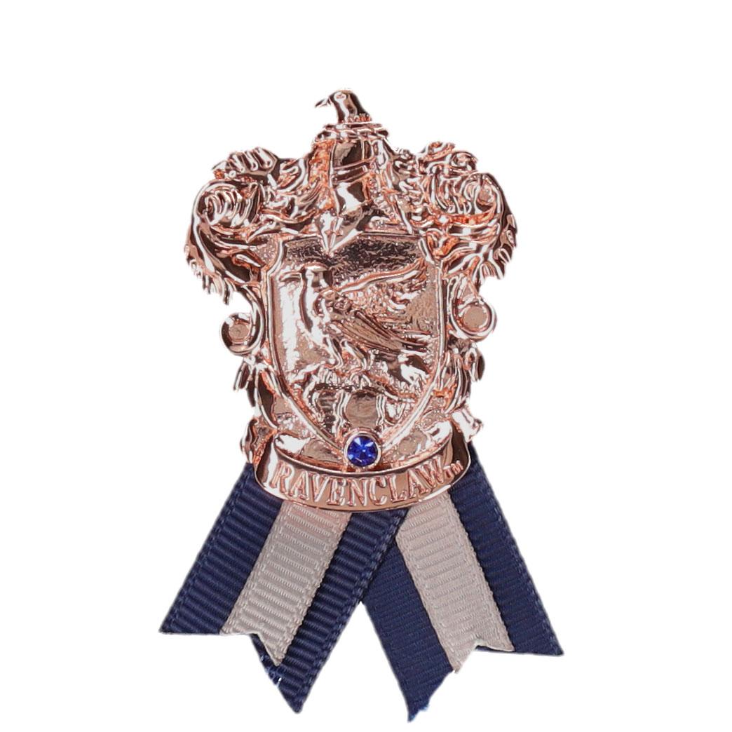 ハリー・ポッター ホグワーツ寮生アクセサリー 紋章メタルブローチ  レイブンクロー