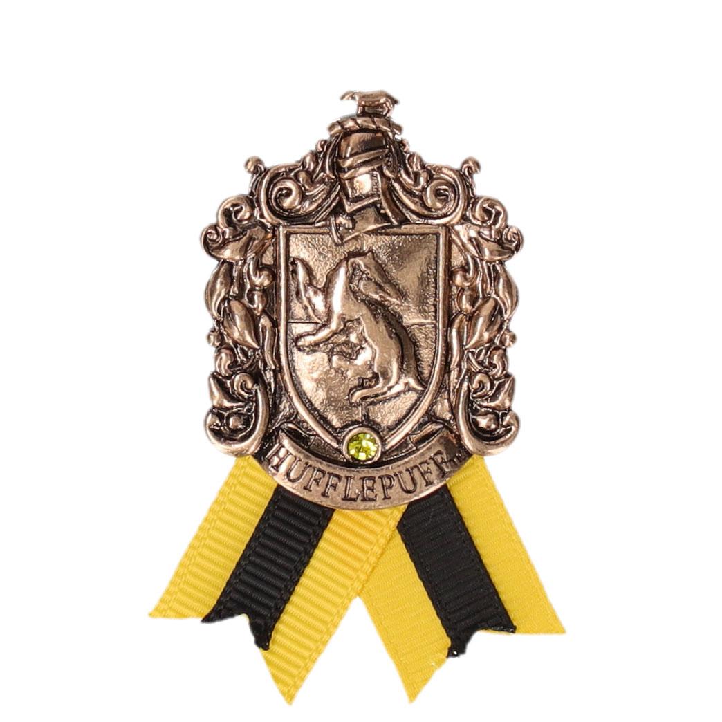 ハリー・ポッター ホグワーツ寮生アクセサリー 紋章メタルブローチ  ハッフルパフ