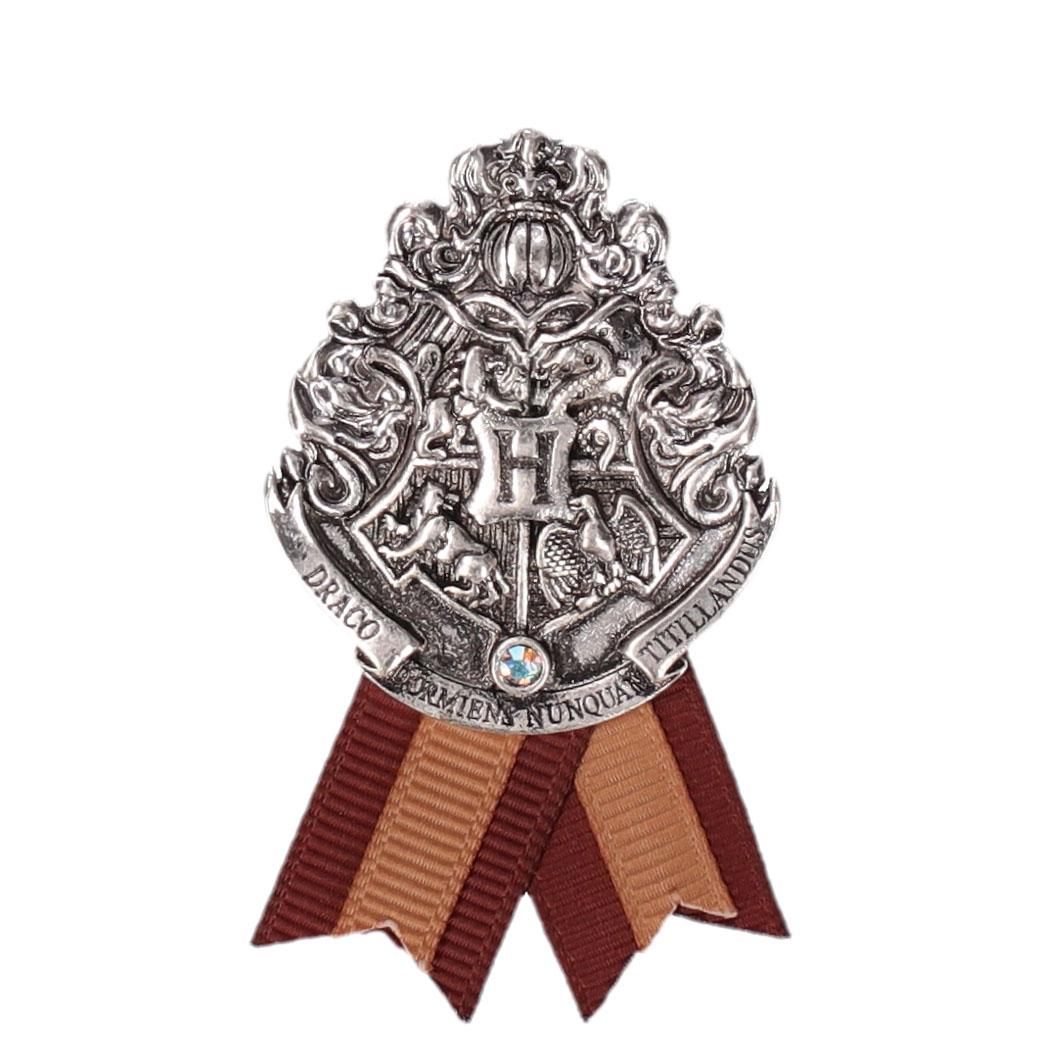 ハリー・ポッター ホグワーツ寮生アクセサリー 紋章メタルブローチ  ホグワーツ